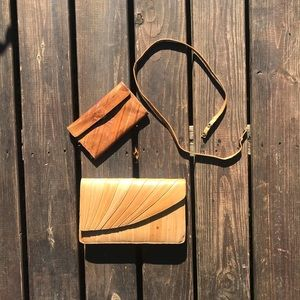 Handbags - FINAL Vintage Eel Skin Clutch strap & wallet